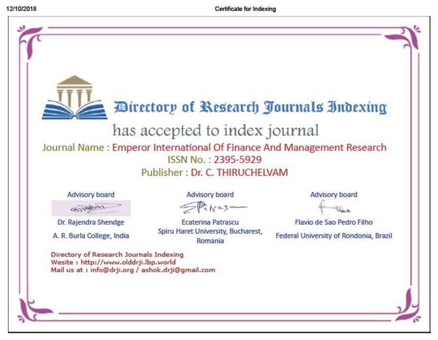EIJFMR - International Journal   Journal Publication